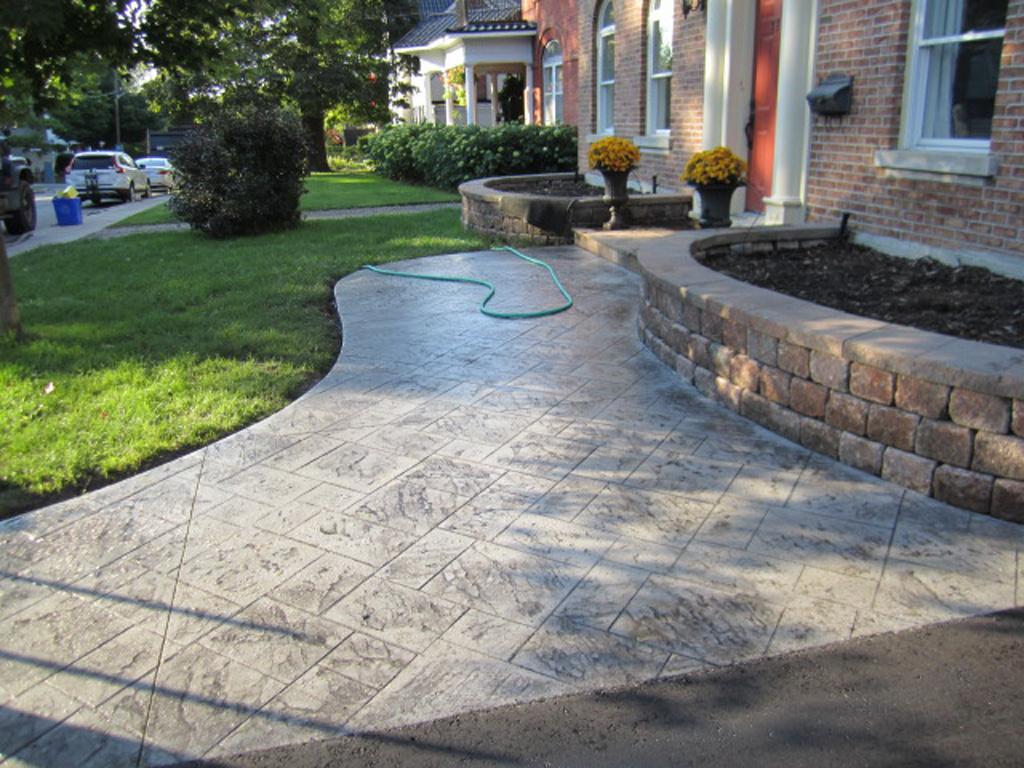 Stamped Concrete Pavement : Stamped concrete toronto nortown paving